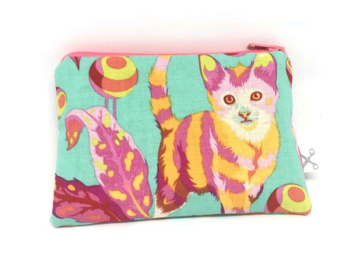 Mini zipper pouch Disco Kitty strawberry