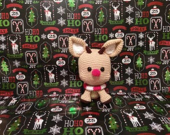 Amigurumi Rudolph the Reindeer- MADE TO ORDER - crochet reindeer