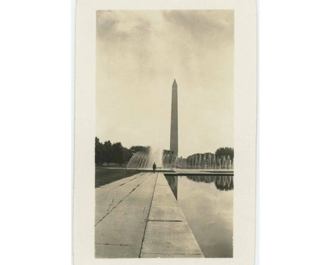 Washington Monument, 1935: Vintage Photo Snapshot (77591)