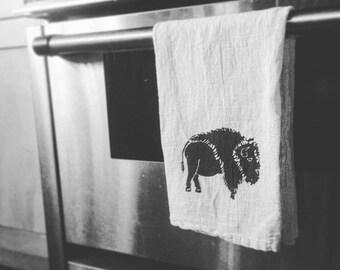 Bison dishtowel