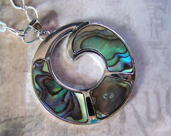 Abalone Pendant Open Circle Paua Shell