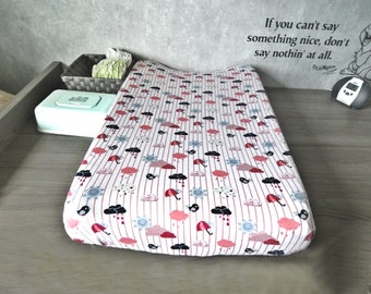 Changing Pad Cover, weather, Outdoor Changing Pad Cover, Changing Pad Cover for girl, Changing Pad Slip Cover, Nursery Bedding