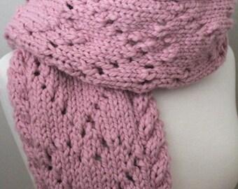KNITTING PATTERN- Hear to Heart Scarf/ Cowl knitting pattern