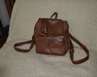 PERLINA, Lt. Brown BACKPACK, VINTAGE, Soft Buttery Leather, Owned, rarely used, very slight color variation, Otherwise, ex. vint.cond