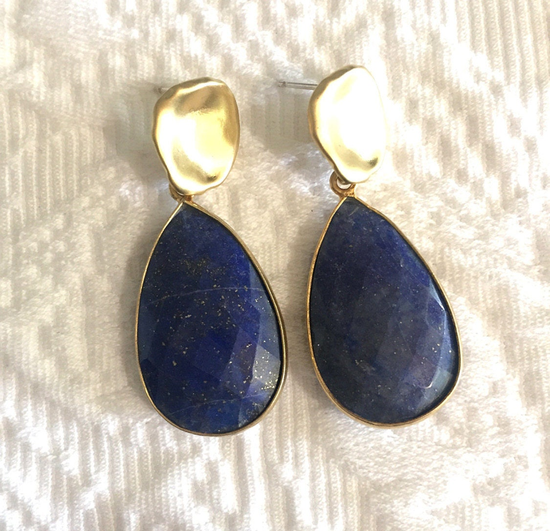 hand genuine earrings compassion lazuli made products lovepray jewelry lapis gemstone