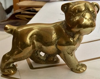 Vintage Brass British Bulldog