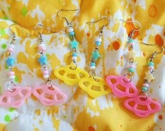 Cute spaceship earrings