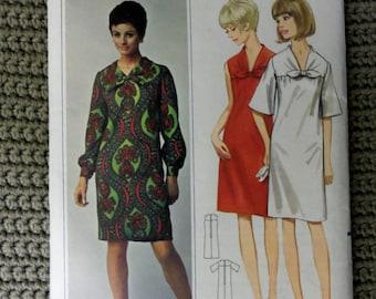 VINTAGE 1960s BUTTERICK DRESS Pattern sz 12 uncut