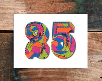 25th Birthday Greeting Card