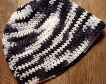 Kid's Pixels Beanie, Winter Hat, Crocheted Hat, Crocheted Winter Hat