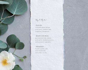 Simple Wedding Menu | Modern Menu