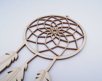 Wooden Dreamcatcher Wall Hanging for Decoration - Laser Cut - Wooden Dreamcatcher - Nursery Dreamcatcher - Large Dreamcatcher