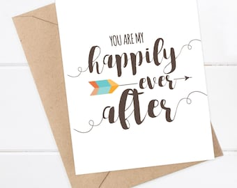 I Love You Card Boyfriend Card Funny Card Husband Card - You are my happily ever after