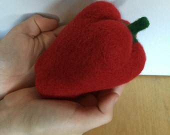 Felted Vegetable Felting Paprika Sweet Pepper Play Food Waldorf Wool Education Toy