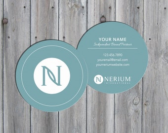 Round business cards etsy digital download nerium international customized 3 round business cards reheart Choice Image