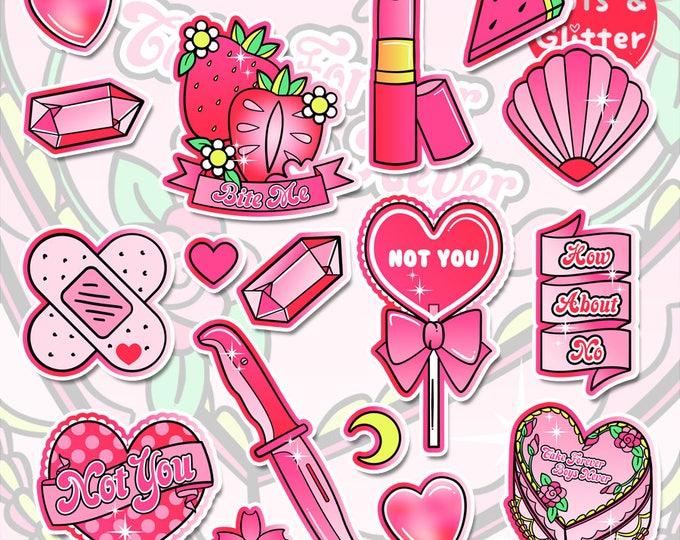 Anti Valentine's Day White Vinyl Sticker Bomb Pack