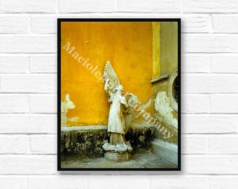 Angel, Archangel, European Statue, Photo, Wall Art, Czech Statue, instant download, digital print, digital art, 8x10