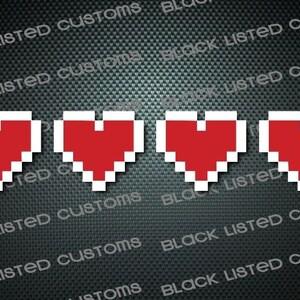 Zelda 8 Bit Heart Custom Vinyl JDM Decal Sticker