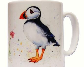 Puffin mug, sea bird, puffins, coastal, ideal gift