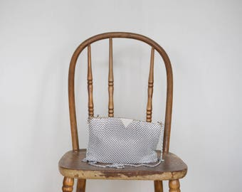 vintage white mesh purse