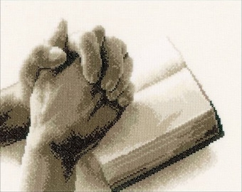 Praying Hands Counted Cross Stitch Kit