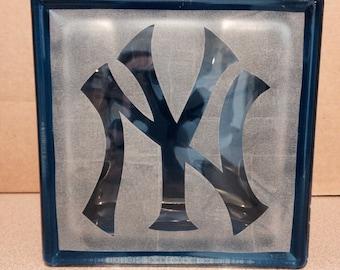 New York Yankee's glass block