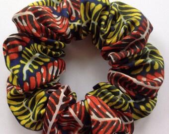 African Fern Hair Scrunchie