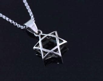 TTT 925 Sterling silver Star of David Necklace, Silver star of David Jewelry, Star of David pendant CHPL 467