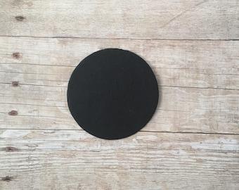 Felt circles, black felt circles, 100 felt circles, felt dots