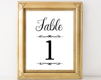 Printable Wedding table number Rustic table numbers template wedding number signs Table numbers printable silver rustic tags 1-20 navy