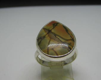 red creek jasper sterling silver ring