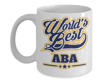 Worlds Best Aba 15oz. Mug - Jewish Father - Fathers Day Gift Yiddish