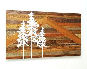Reclaimed Wood Tree Painting