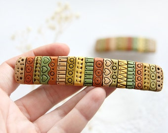 Mother daughter gift for Mommy and me set of 2 hair accessories boho birthday gift for women gift for girlfriend gift colorful barrette set