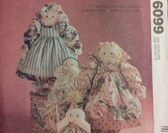 UNCUT Country Dolls and Babies Sewing Pattern McCall's 6099  Uncut  Complete Doll patterns