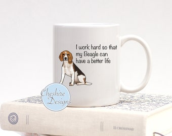 Beagle Mug, Beagle Gifts, Beagle Lovers, Gifts for Dog Lovers, Beagle Owners gifts, Coffee mug, New Mug, Beagle Lover Gifts, Beagle Items