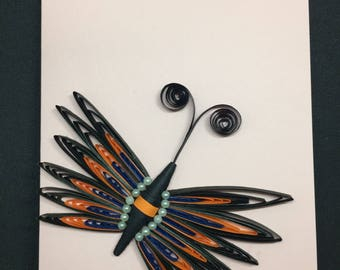 Quilled Card: Beautiful butterfly