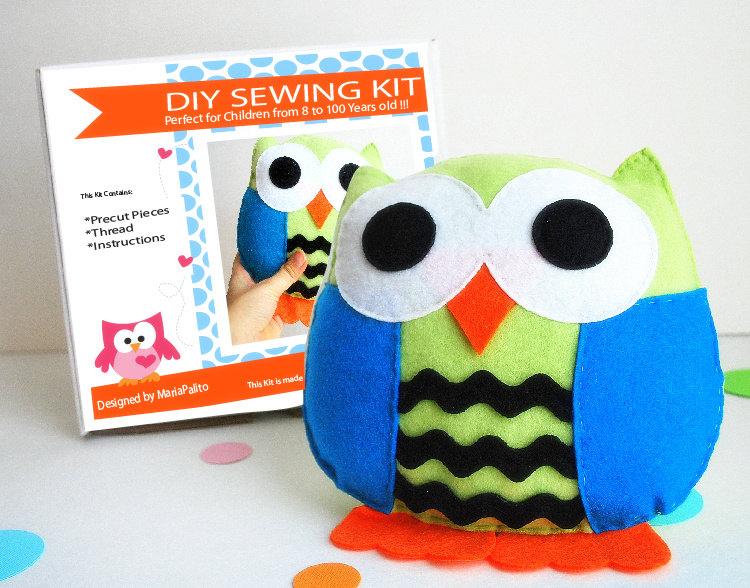 Owl Pillow Sewing Kit Felt Kids Crafts