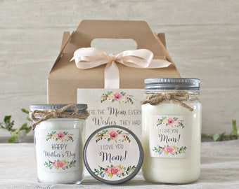 Mother's Day Gift Idea / Spa Gift Set For Mom / Candle Gift Set / Personalized Mother's Day Gift / I love you Mom gift / Happy Mother's Day