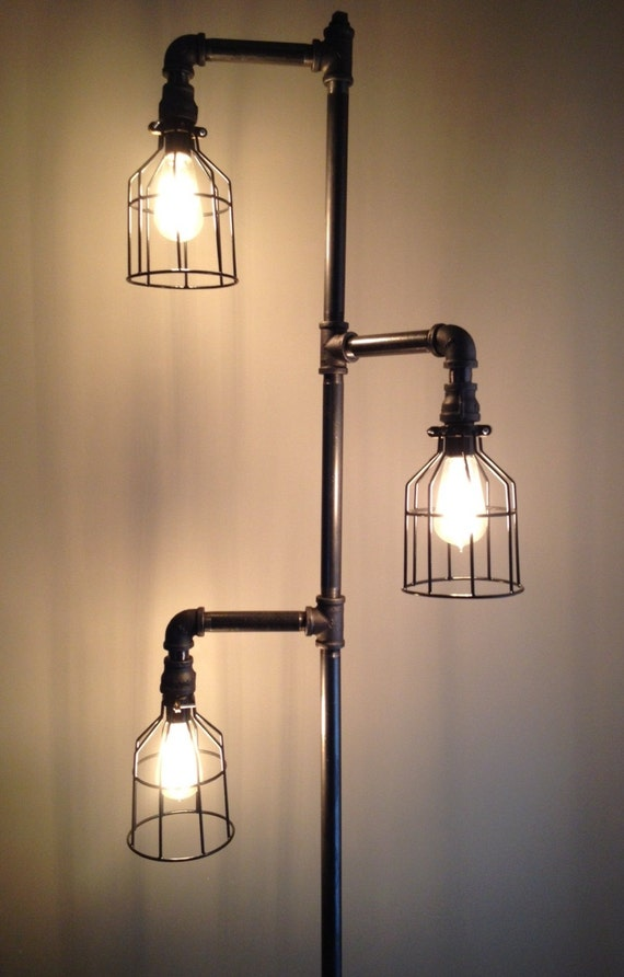 Industrial Plumbing Pipe Floor Lamp