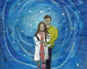 Even the Stars Were in Love With Her- Original Encaustic Painting