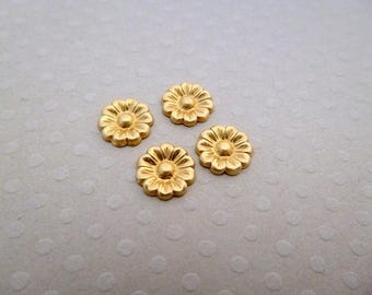 Set of 4 prints Fleur PM gold 9 mm - PMCD 0895