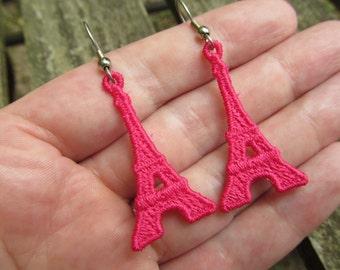 Machine Embroidery Design-FSL Paris' Eiffel Tower Earring or Charm
