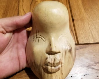 """Hand-Carved Wood Mask from Bali, Indonesia! Wall Art decor! Wood Carving 5"""" (A8)"""