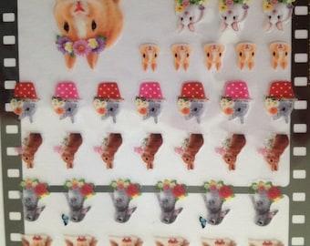 Japan Q-lia kawaii RABBIT Photrip sticker sheet/Bunny photorip 71419
