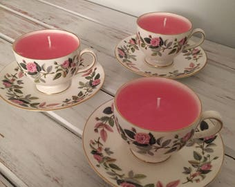 Teacup Candle in Wedgwood Bone China Teacup