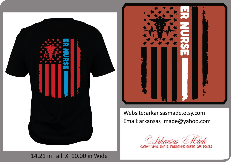Cardiac Nurse distressed American flag custom nurse shirt, Design on back, APN nurse, trauma nurse, RN shirt, Nurse shirt, nurse gift, to 4x
