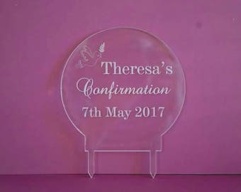 Personalised Confirmation Cake Topper
