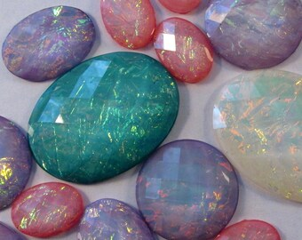 INFORMATIONAL!! - Faceted Acrylic Opals - Craft Grade