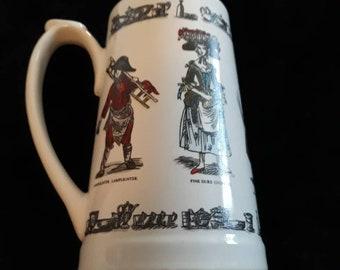 Vintage Holkham Pottery Character Beer Jug